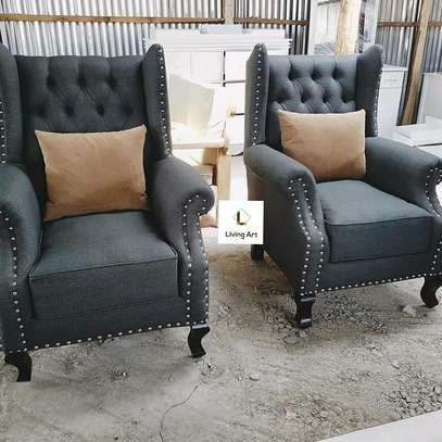 Beautiful Modern Quality Wingback Chairs image 1
