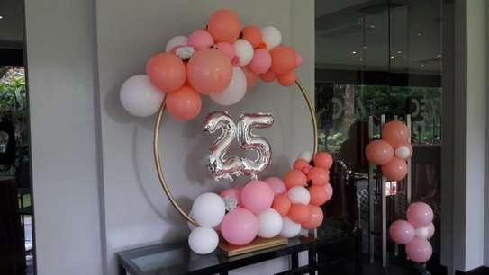 Balloon Garland and balloon decor image 8