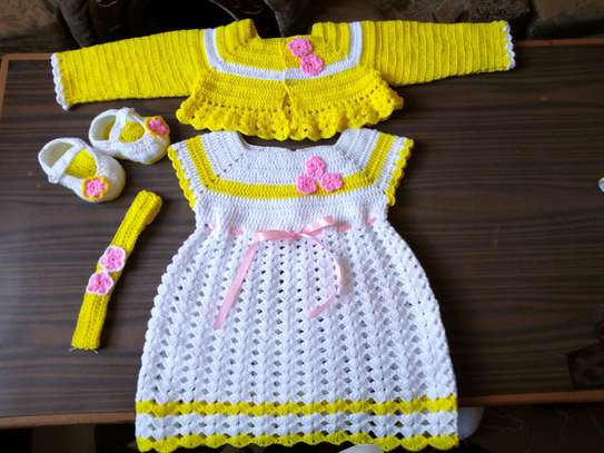 Newborn crochet dress sets
