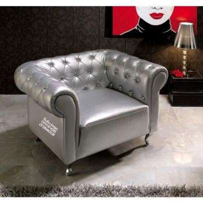 One seater sofa/single seater chesterfield sofas image 1