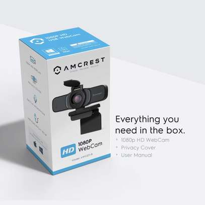Amcrest 1080P Webcam with Microphone & Privacy Cover, Web Cam image 2