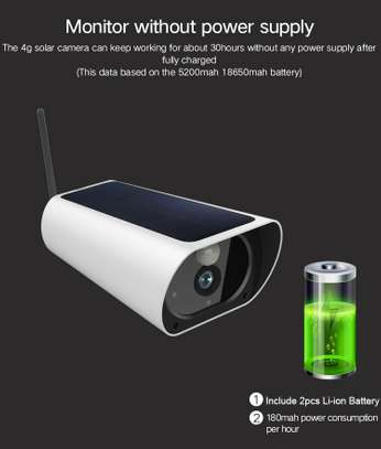Wireless Outdoors Solar Powered Cctv WiFi Bullet 1080P image 7