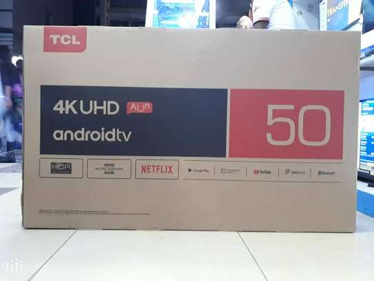 Tcl 50 inches smart Android 4k tv image 1