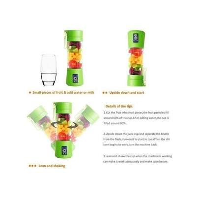 Portable Blender Juicer Cup / Electric Fruit Mixer / USB Rechargeable Juice Blender 380mL image 6