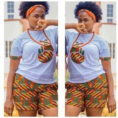 African print shortsuits