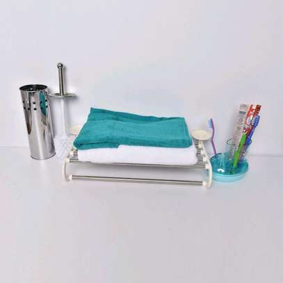 Toilet and tooth brush holder image 2
