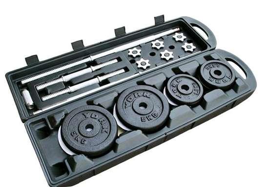 50kgs adjustable dumbbells kit image 1