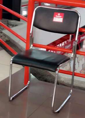 Armless stackable office visitor chair image 1