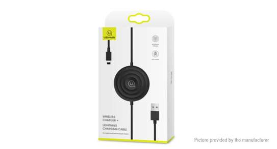 USAMS Wireless Charger + Lightning Cable for iPhone / Apple Watch / Airpods image 3