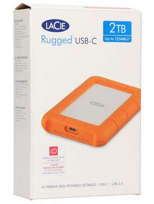 LaCie 2TB Rugged USB 3.1 Gen 1 Type-C External Hard Drive image 1