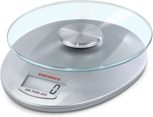Electronic weigh Scale with Removeable Weighing Plate (Colour: Silver) image 1