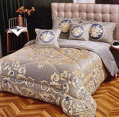 woolen  velvet duvet gold print image 1