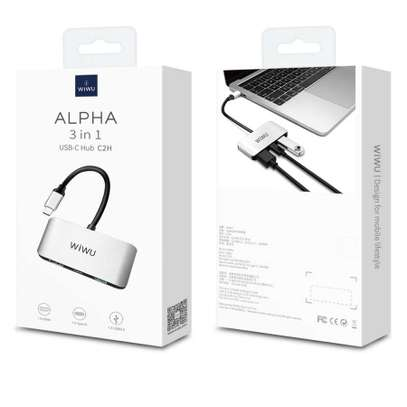 WiWu Alpha C2H 3 in One USB C to HDMI USB Adapter image 1