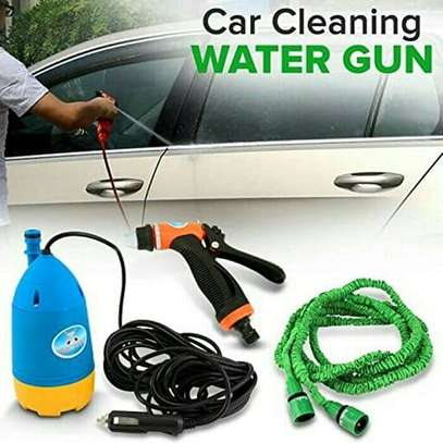 Electric/battery powered pump pipe good for car wash, carpet cleaning and general house cleaning. Pressure pump pipe with brush image 1