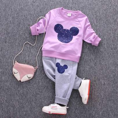 Girls 2 piece tracksuit image 2