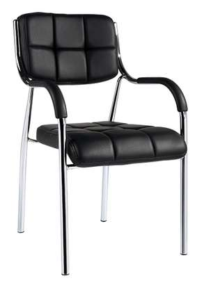 Black chromed office conference chair image 1