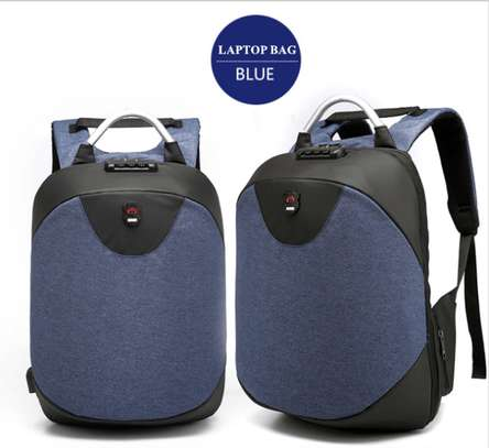 Antitheft Bags With USB Charging Port - Blue image 1