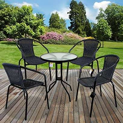 4 piece rattan balcony chairs image 3