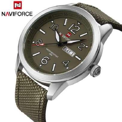 NAVIFORCE brand fashion sport calender watches nylon strap wristwatch watch 30m image 1