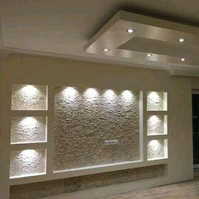 T.V Front Wall latest gypsum Design image 6