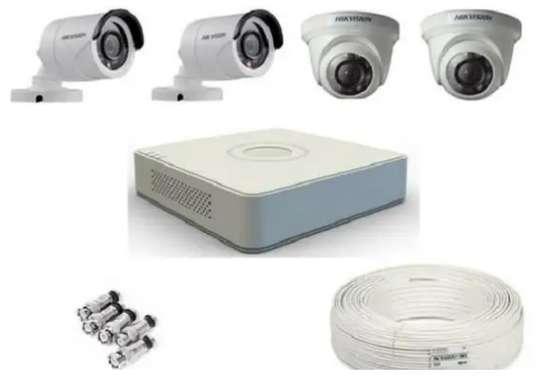 Hikvision 4 Camera CCTV 2 Dome 2 Bullet image 1