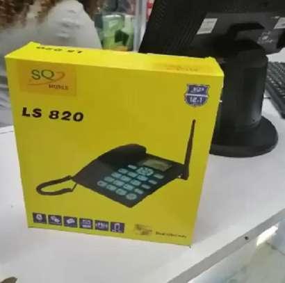 SQ Mobile GSM Fixed Wireless Desktop Phone Landline With Dual Sim Card image 1