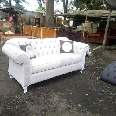 Gorgeous Modern Quality Camel Back 3 Seater Chesterfield Sofa image 1