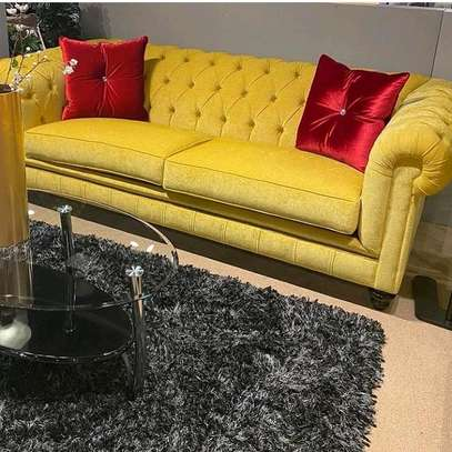3 SEATER YELLOW SOFA FOR SALE IN NAIROBI image 1