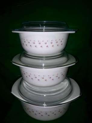 3pc serving dish/casserole set/Heat resistance serving bowl/Hot pot image 2