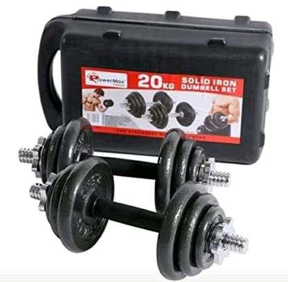 20kgs adjustable dumbbell set image 2