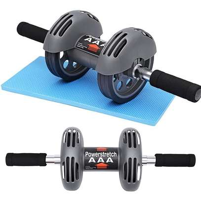 Power Stretch Abs Double wheel Roller Exercise Fitness roller image 1