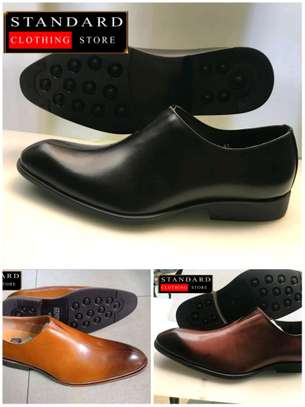 PURE ITALIAN LEATHER SHOES WITH RUBBER SOLE image 8