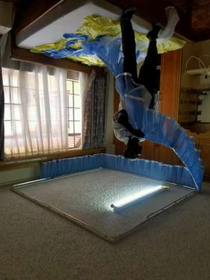 Rail Shears Mosquito Nets Sliding Like Curtains Fixed On The Ceiling image 15