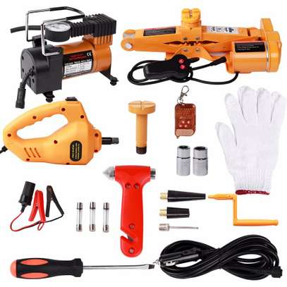 Automatic Electric Jack Package with Impact Wrench and Inflator image 1