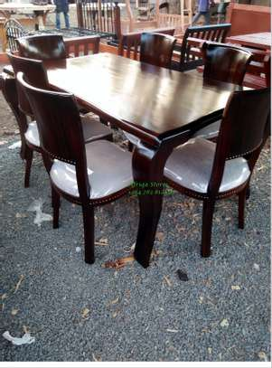 Antique mahogany dining table image 6