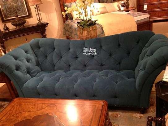 Luxury three seater sofas/grey tufted sofas image 1