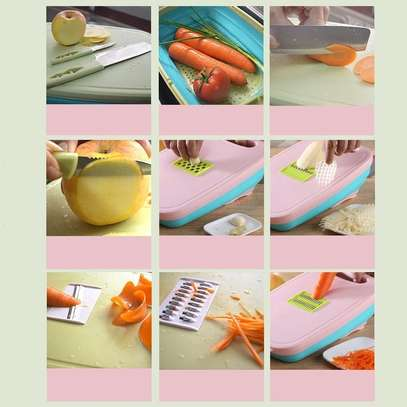 10 in 1 multi~ fuctional  Slicer, 2knives with Collapsable Colander& Chopping Board image 5