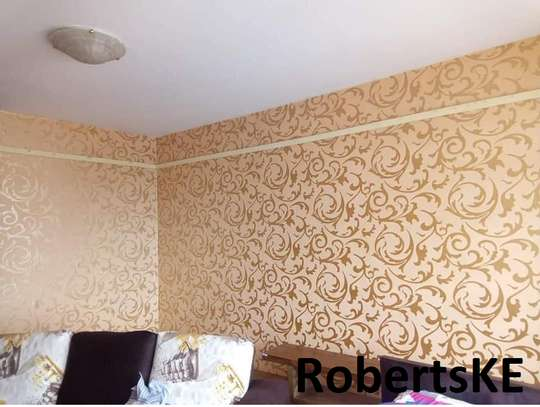 decorative light brown wallpaper image 1