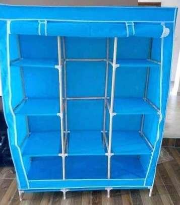 portable wardrobe blue image 1