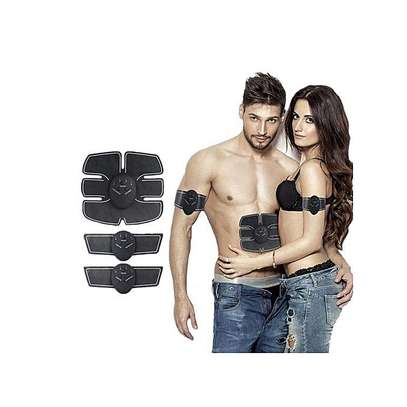 EMS Smart Abs Stimulator Training Fitness Gear Muscle Hands And Abdominal Toning Trainer - Black