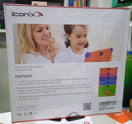 Kids Tablets, Iconix C700 new tablets, 8gb 512mb ram+Delivery image 1