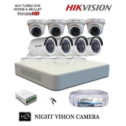 8 HD CCTV Complete Kit 1.3Mp (With 1000GB HDD + 100M) image 1