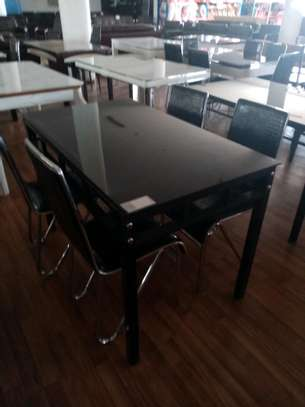 Beautiful Black 4 seater dining table image 1