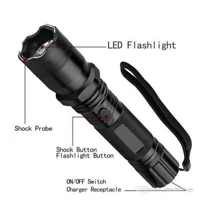 Personal Defense Torch With Electric Shock - Black image 1