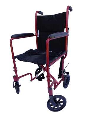 Lightweight folding travel wheelchair image 3