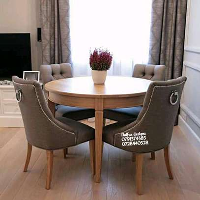 Modern four seater dining set/dining set image 1