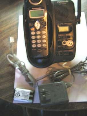 Panasonic Cordless Telephone & anser machine, phone bk image 1