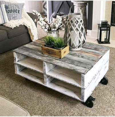 White washed coffee table image 1