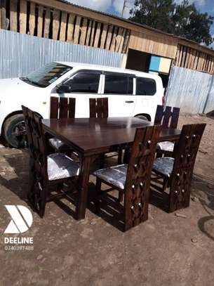 Rectangular 6 Seater Mahogany Framed Dining Sets image 13