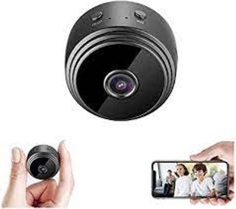 A9 WiFi 1080P Full HD Night Vision Wireless IP Camera, Hidden Camer | Mini Spy Camera WiFi for HomeSmall (Black) image 1